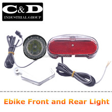 Free Shipping 36V48V Compatitable E-bike Headlight Taillight Set Front Light Rear Light set Headlamp Taillamp Set