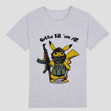 AK-47 Rifle Sniper Mens T Shirts Pikachu Animation design Image of terror(China)