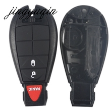 jingyuqin 3 Buttons Remote Case Key Shell For Jepp Chrysler 300 Town & Country Dodge Challenger Charger Durango Journey