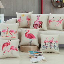 Simple Casual Personality swan  Beige Background Cotton Linen Pillow Cover Cushion Cover Pillow Case Fashion Home Decor