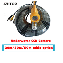Sea Lake Fishing Camera DV Fish Finder Camera Underwater CCD CCTV Camera For Fishing Inspection 50M Cable(China)