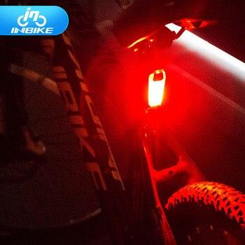 INBIKE Vélo Feu arrière USB Interface Vélo VTT Lumière Résistant À L'eau Avertissement Lumières IL809