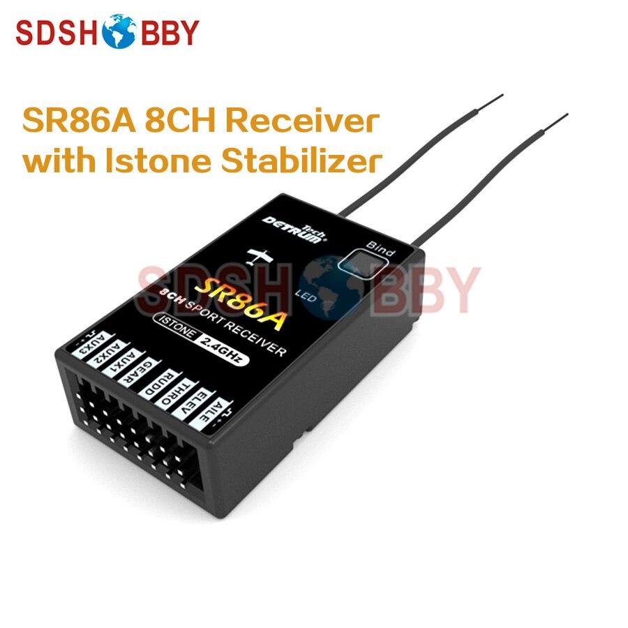 Detrum SR86A 8CH Receiver with Istone Stabilizer for GAVIN-8C/ GAVIN-6C Radio Control System<br>