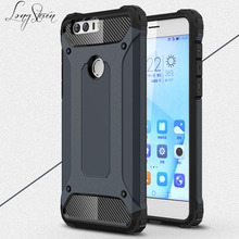 [Long Steven] For Huawei Honor 8 Case Unique Armor Anti-Knock Attached Dust Cap Cover For Huawei Honor8 Case Funda Honor 8