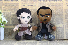 Free shipping 2pcs/lot 20cm Original Star Wars The Force Awakens black man finn and Rey plush soft doll