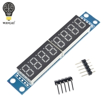 MAX7219 CWG 8-Digit Digital Tube Display Control Module Red Three IO for Arduino