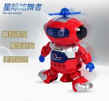 360 Rotating Space Dancing Robot Musical Walk Lighten Electronic Toy Robot Christmas Birthday Gift Toy For Child(China)