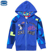 novatx A5435 2016 Retail hot new fashion Design children clothes boys jacket coat for winter baby boys clothes hooded coat hot