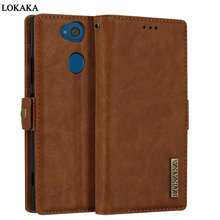 Buy LOKAKA Case Sony Xperia L2 L 2 Wallet Flip PU Leather Cover Button Full Protective Sony Xperia L2 SonyL2 Phone Bag Coque for $8.24 in AliExpress store