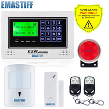 NEW Wireless Touch gsm menu alarm systems security home wireless 10kg Pet friendly PIR SIM card security Gsm SMS alarm system