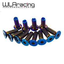 WLRING STORE- 6PC/LOTS Burnt Titanium Steering Wheel Bolts Fit a lot of steering wheel Works Bell Boss Kit WLR-LS06T
