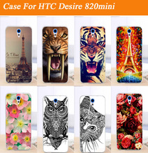 diy painting colored case cover for HTC Desire 620 620G Desire 820 Mini D820mu cool animal skin shell cover case