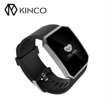 KINCO Blood Pressure Oxygen Heart Rate Sport Health Monitor IP67 Black Purple Blue Weather Watch Smart Bracelet for IOS/Android(China)
