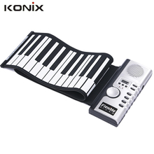 High Quality Portable Flexible Electronic Roll Up Digital Piano 61 Soft Keyboard