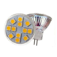 5pcs MR11 12 SMD 5050 LED Light AC & DC 12V Warm White(China)