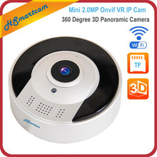 1080P 3D VR WI-FI Camera 360 Degree Panoramic IP Camera 2.0MP Fisheye Wireless Onvif P2P IR Smart Security Camera TF Card Slot
