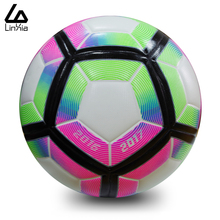 High Quality 2017 Official Size 5 Football Ball PU Granule Slip-resistant Seemless Match Training Soccer Ball Football Equipment