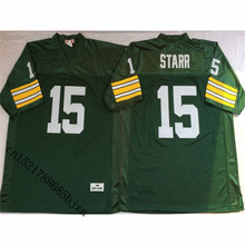 Mens Retro Bart Starr Stitched Name&Number Throwback Football Jersey Size M-3XL(China)