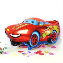 1PC Red Color Car Foil Balloon Helium Balloon Cartoon Car Balloons Wedding Birthday Decoration Toy