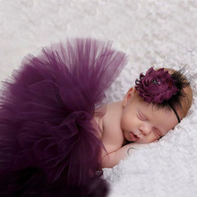 Sweet Simplicity Tutu And Tiara Set Stunning Unique Newborn Photo Prop And Halloween Costume Baby Tutus TS026(China)
