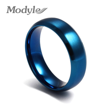 Modyle New Fashion Stainless Steel Blue Color The Rings for Men and Women Finger Ring Jewelry(China)