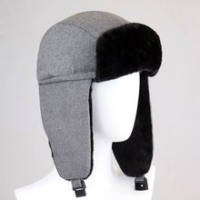 NEW Winter Bomber Hat For Women Men Solid Warm Russian Aviator Hat Trooper Ear flaps Hat Outdoor Sport Snow Ear Protection Cap