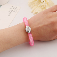 Sweet wild rhinestone individual automatic magnetic button bracelet Fashion for Women Cuff Bangle Personalized Bracelets Jewelry