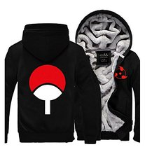 Anime Naruto Sasuke Uchiha Sharingan Hoodie Cosplay Costume Hooded Jacket Only Winter Men Thick Zipper Luminous Sweatshirts(China)