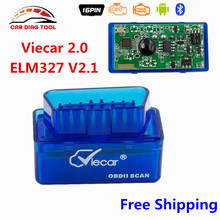 Newest V2.1 VIECAR Super Mini Bluetooth 2.0 ELM327 OBD2 Auto Car Code Reader ELM 327 V2.1 For Android Torque & Windows Free Ship