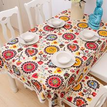 High Quality Table Cloth National Wind Explosion Models Cotton Linen Tablecloth Sun Flower Tablecloths Home Textile AU578