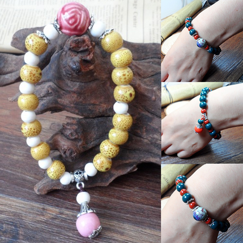 LNRRABC Retro New Jewelry Bracelets Gift Multi-Color Drop Shape Pendant Radiation Protection Exquisite