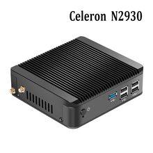 HOT SALE Celeron N2930 Quad Core 2.16GHz Fanless mini pc HDMI+VGA Linux Micro Computer Office 1*USB 3.0 Mini computer