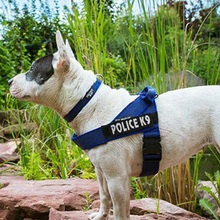 Pet Service Security Dog Harness Nylon Pet police K9 Training Vest Pet Collar&Leashes Lead Accessory Supplies  Dog Chest Strap