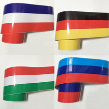 3 colors Stripe Car-Styling Decoration Stickers on Car Tail Head Cover Roof Motorcycle Moto Decal Vinyl Car Wrap for BMW VW Golf