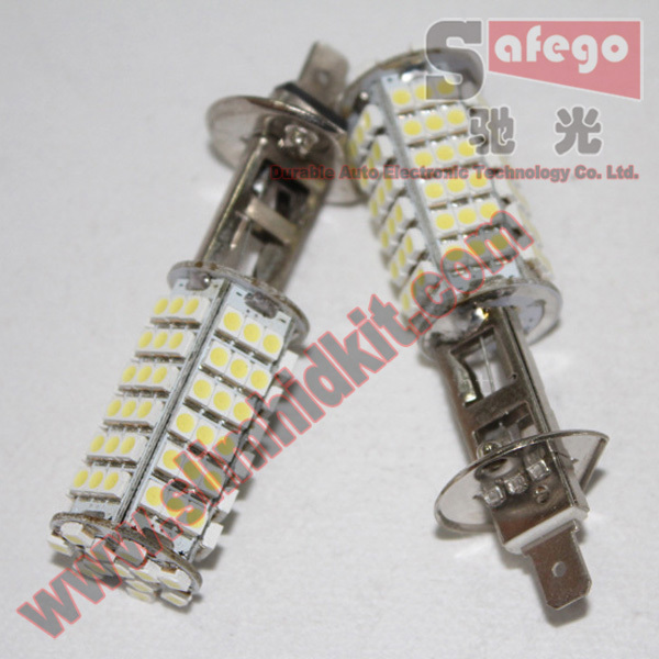 2pcs h1 fog light lamp 102smd 3528 1210 smd led 5050 h1 led headlight super bright 360 degree<br><br>Aliexpress