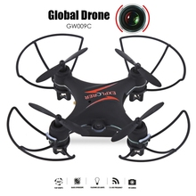 Global Drone GW009C 4CH Drone Dron Quadcopter Toy RTF Flying Helicopter Drones with Camera Quadrocopter VS Cheerson CX-10 CX10(China)