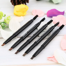 1pc Ladies Waterproof Double Head Makeup Automatic Eyebrow Pencil with Eye Brows Brush Makeup Cosmetic Beauty Tools Best Selling(China)