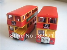 TT03-- Learn Curve Thomas & Friends 2pcs Bulgy Railway Bus Metal Diecast Toy Train Car New Loose