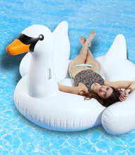 60 Inch 150cm Ride-On Swim Ring Inflatable Giant Flamingos Swan Floating For Adult Kids Summer Holiday Water Fun Toys Pool Float