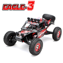 New Eagle-3 1/12 Scale 4WD Brushed Rc Car Electric Rock Racer Desert Off-Road Truck baja with 2.4GHz Radio System RTR(China)