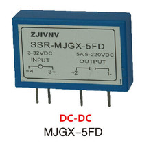 PCB TYPE DC-DC solid state relay 5a pcb ssr small type input 3-32vdc, output 220VDC, mould :MJGX-5FD free shipping(China)