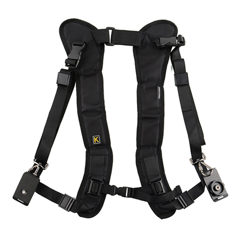 Double-Dual-Shoulder-Camera-Neck-Strap-Quick-Release-for-Digital-SLR-DSLR-Camera