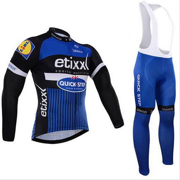 2017 three pockets pro team etixx quick step long sleeve cycling jerseys thin quick-dry bike cloth Bicycle maillot<br><br>Aliexpress