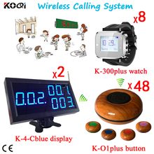 Waiter Paging System Wireless Table Call Bell Buttons Customer Calling To Waiters System 300M Remote