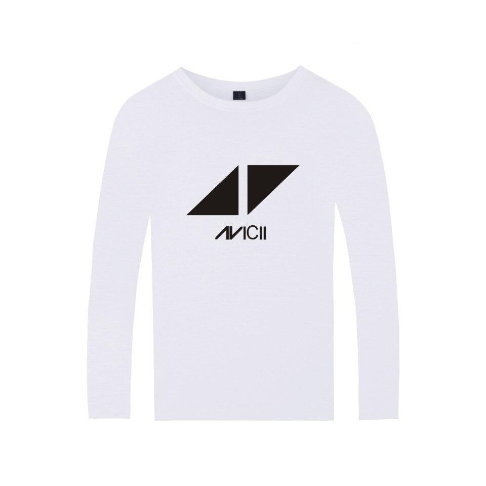 2017 DJ Avicii Logo T-shirt Men Cotton Fans Tshirt Homme Long Sleeve Autumn Fashion Print T-shirt Top Plus Size 4xl wangcangli