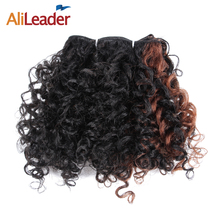 AliLeader 12 Pcs/Lot Kinky Curly Hair Wefts Full Head Afro Kinky Synthetic Hair Weave Bundles