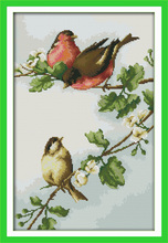 Birds' twitter and fragrance of flowers Embroidery Floss DMC Cross Stitch In 11CT Cross stitch Kit For Embroidery Cross Craft