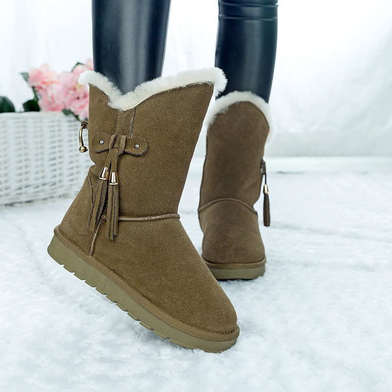 Hemmyi 2017 New australia women winter boots botas mujer brand genuine leather boots shearling warm snow boots size 4-11<br>