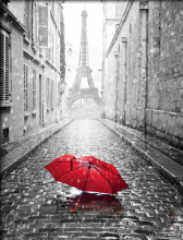 DIY Diamond Painting Cross Stitch Needlework Diamond Mosaic Embroidery Paris Towel Red Umbrella Pattern DIY Crafts P20