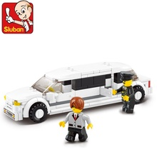 Sluban Luxury Limousine 135 Pcs Mini Bricks Set Sale City Series Educational Building Blocks Toys for Children B0323(China)